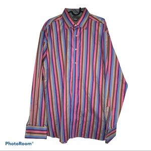 Ted Baker Endurance Striped Dress Shirt NWOT